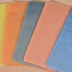 5 pastels and one clear 105 x 50mm material