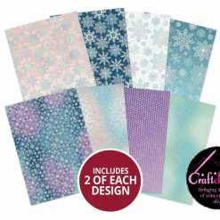 Hunkydory - A Sparkling Season - Edge-to-Edge Holographic Cardstock - A4 - 350gsm - 16 Sheets