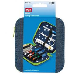 PRYM Sewing Accessories Kit in a Denim Case