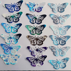 Unique one of a kind Butterfly die cut shapes – 6 to a pack