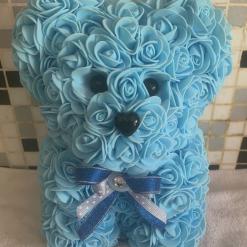 Handmade Blue Flower Bear