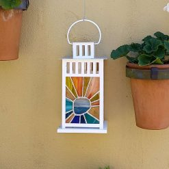 Candle lantern - Stained glass, Lighthouse