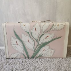 Pink & White Suitcase (Lilies)