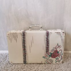 Pink and White Suitcase (Rose)