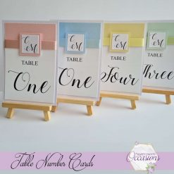 Tiffany Wedding Table Number Cards