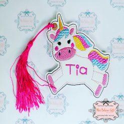 Personalised Unicorn Bookmark