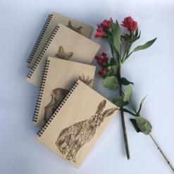 WOODLAND ANIMAL NOTEBOOKS - Hare, Owl, Fox, Deer, Hedgehog - Postage Included!