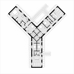Alphabet Floorplan 'Y' Art Print
