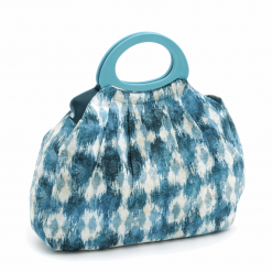 "Hobby Gift ""ikat"" Gathered Knitting Bag"