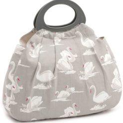 Hobby Gift 'Swans Pebble' Gathered Knitting Bag