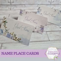 Wedding Name Place Cards - Pack of 10 - Different Designs Available
