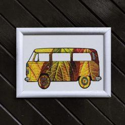 Camper Van Art Print, Satin Finish Photo, Surfer Art, A4 Size by Cornish Artist, Free UK Postage (Copy)