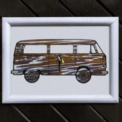 Camper Van Art Print, Satin Finish Photo, Surfer Art, A4 Size by Cornish Artist, Free UK Postage