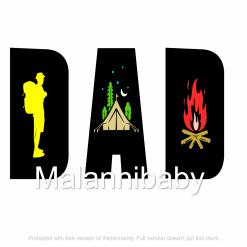 Dad Camping Svg Digital File | Cricut | Silhouette | SVG ESP DXF JPG PNG PDF