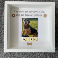 Pet Memorial Frame, Dog Memorial Frame, Pet Memorial Gift, Cat Memorial Gift, Pet Loss Frame, Pet Loss Gift