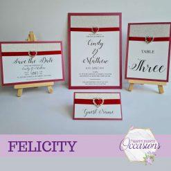 Felicity Wedding Invitation - Different Colour Themes