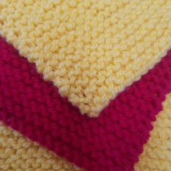Introduction to Knitting a Blanket for Complete Beginners - Pattern and Full Instructions