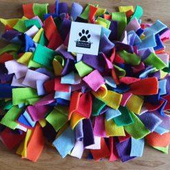 Rainbow Snuffly mat snuffle rug mat dog toy dog rabbit cat treat mat Bow-tiful by Kate