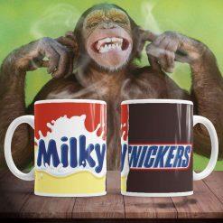 Funny chocolate bar milky nickers mug