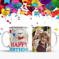 Personalised birthday photo mug