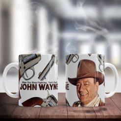 John Wayne - when you stop fighting that's death mug