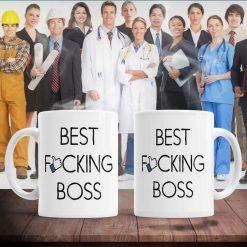 Funny Best fucking boss mug