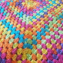 Crocheted Rainbow Baby Pram Blanket