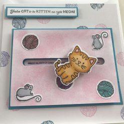 Cat greetings card