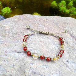 Gemstone bracelet with carnelian and citrine