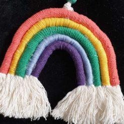 Macrame Rainbow wall hanging 1