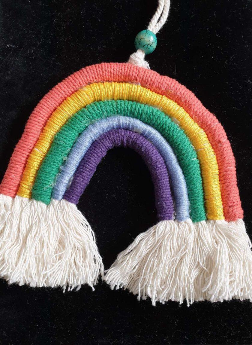 Macrame Rainbow wall hanging
