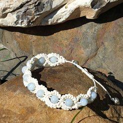 Gemstone bracelet with aquamarine