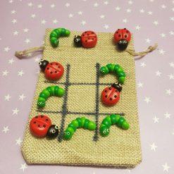 Tic tac toe - caterpillar and ladybird design