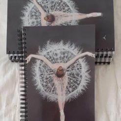 A5 spiralbound notebook of dandelion dancer