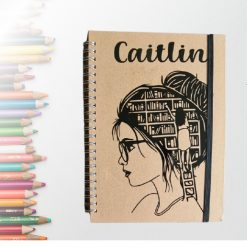 Personalised A5 Notebook - Girls Who Loves Books