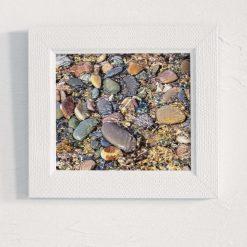 Sea Pebbles Art Print, Satin Finish Photo, 8 x 8 inches by Cornish Artist, Free UK Postage