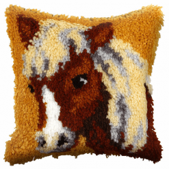 Latch Hook Kit: Cushion: Small: Jack Russell