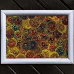 Abstract Art Print, From Acrylic Painting, Raindrops, A4 Size by Cornish Artist, Free UK Postage