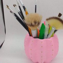 Hand painted ceramic storage pot (pink)