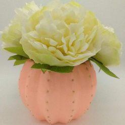Hand painted ceramic storage pot (Coral)