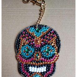 Candy Skull Handbag Charm