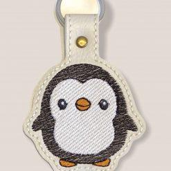 Cute penguins key fob