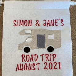 Embroidered Motor Home Felt Hanging Signs