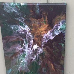 Acrylic pour on canvas