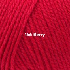 500g (5 x 100g) Genuine Robin DK Doubleknit wool yarn. Colour: Berry. Free postage