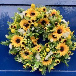 Sunny Sunflower Wreath