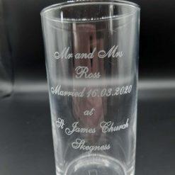 A Personalised Wedding Theme Highball Glass 285ml