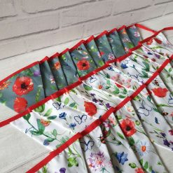 Floral Bunting 100% cotton, Wild Flower & Insects Bunting, Floral Garland, Garden Bunting, Bee Bunting, Fabric Bunting, 10 double sided flags 2.5m
