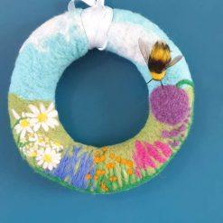 Summer Bee Wreath