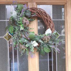 All seasons willow door wreath